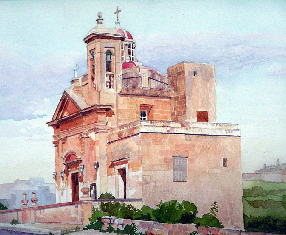 Painting - Maris Zammit       Santa Marta Chapel in Gozo