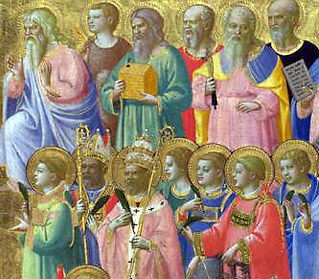 Christ with Saints and Martyrs - Fra Angelico - L