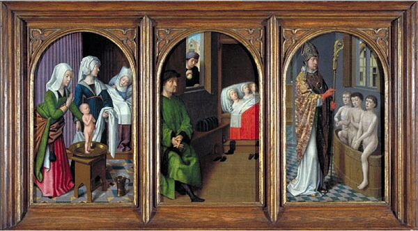 Three legends of St Nicholas by Gerard David